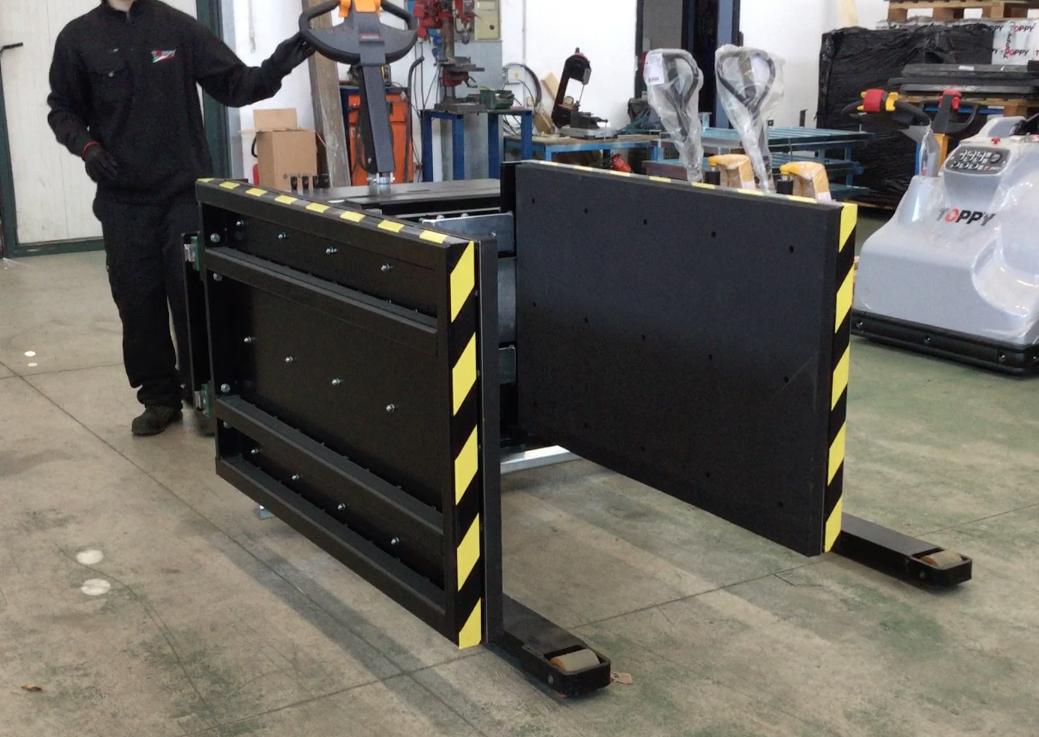 Stationary Load Inverter Pallet Inverter Bulle Pallet: Toppy Side Grip